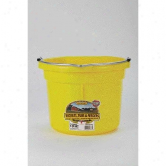 Miller P8fbyellow Flat Back Plastic Bucket