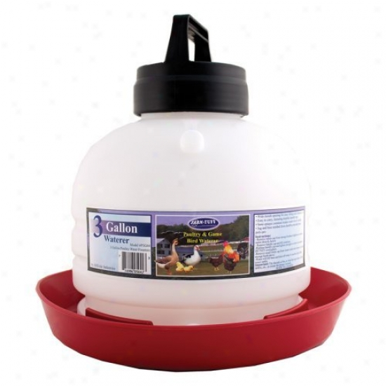 Millside Industries Top Fill Poultry Fountain - 3 Gallon