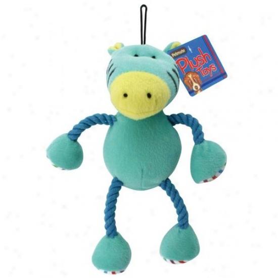 Petmate Aspen Pet 0353862 Plush Rope Horse Dog Toy - Blue