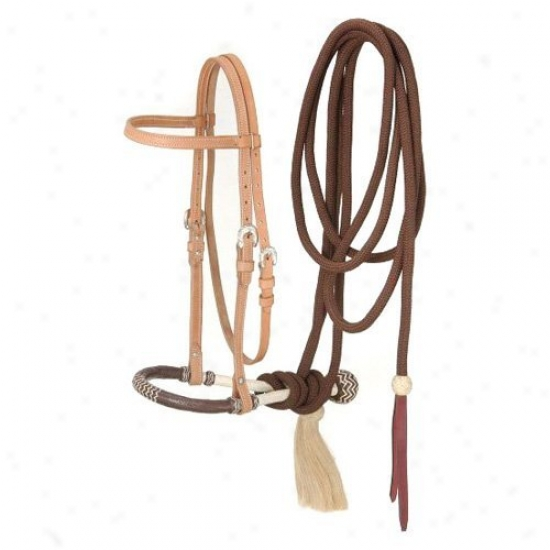 Royal King Brow Band Headstall Bosall/cotton Cord Mecate Set