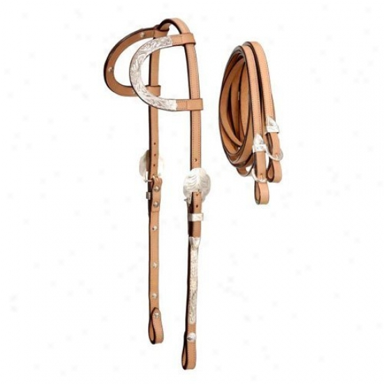Royal King Double Ear Silver Headstall