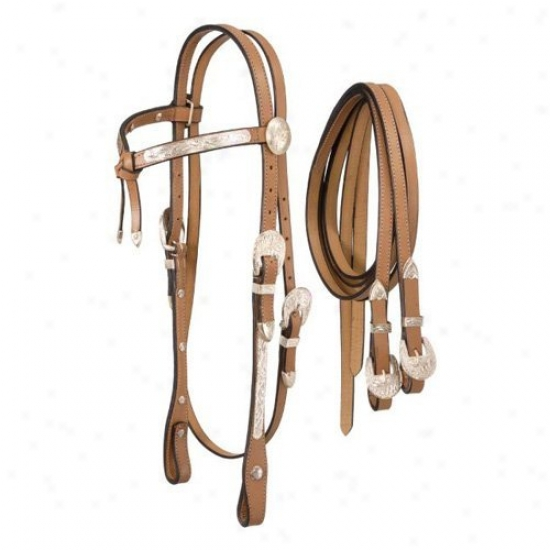 Magnificent King Full Silver Show Futurity Brow Headstall
