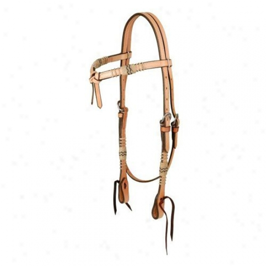 Royal King Futurity Headstall With Braided Rawhide