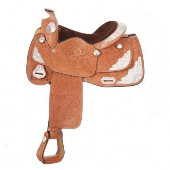 Silver Royal Classic Oak Shwo Saddle