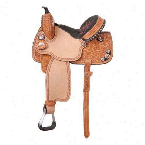 White Royal Fayette All Around Barrel Saddle