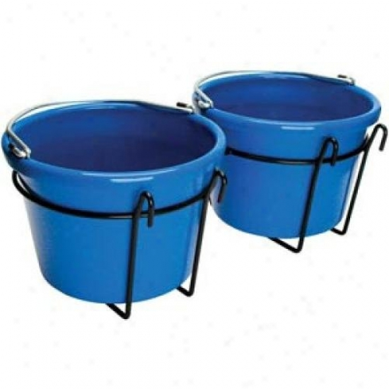 Teksupply 103879 Double Bucket Holder - Fits Over 1/4 Diameter Wire Fencing
