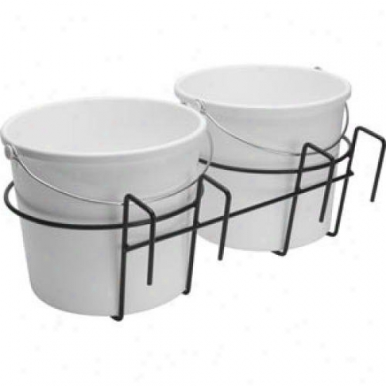 Teksupply 103903 Double Bucket Holder - Fits Over 2 X 4 Wooden Fencing