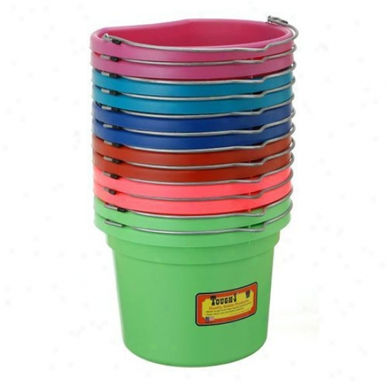 Tough-1 8 Qt. Merry Colors Flat Back Bucket - 12 Pack Assorted