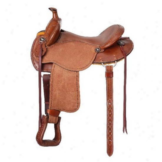Tough-1 Brisbane Roughout Track Saddle Withh Horn