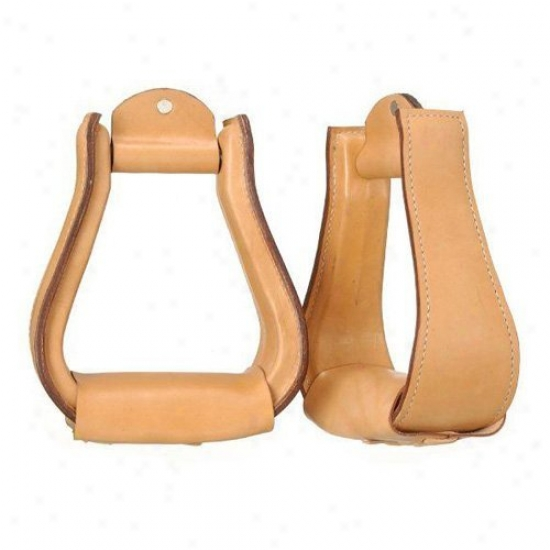 Tough-1 Leather Coverec Stirrups