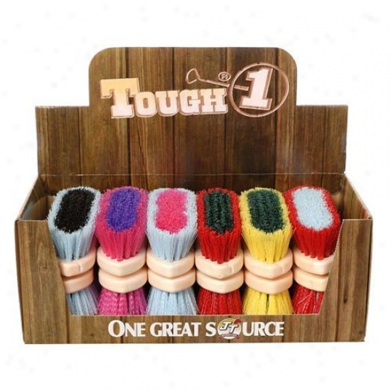Tough-1 Medium Poly Bristle Brush - Bright Colors - 12 Pk. Assorted