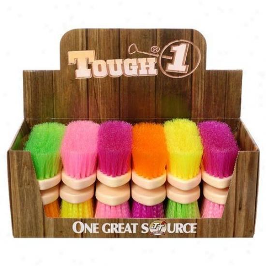 Tough-1 Soft Poly Bristle Brush Bright Colors - 12 Pk. Assorted