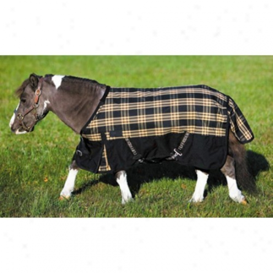 Tuffrider Horse 600d Plaid Thermo Manager Lined Miniature Blanket