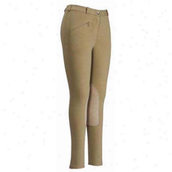 Tuffrider Ladies Cotton Knee Patch Long Breeches