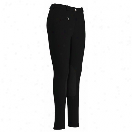 Tuffrider Ladies Cotton-wool Knee Patch Regular Breeches