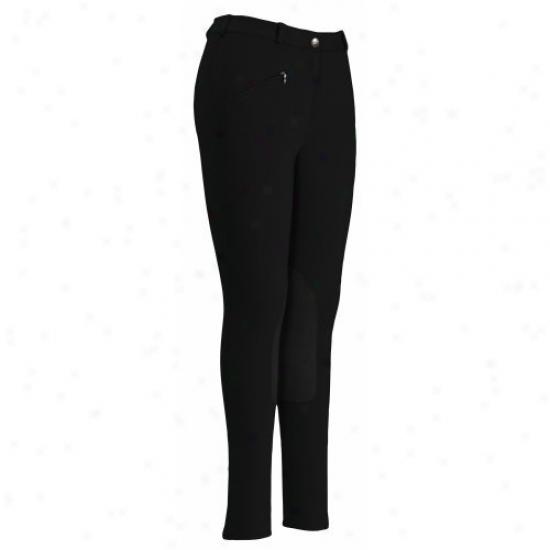 Tuffrider Ladies Cotton-wool Knee Patch Regular Breeches