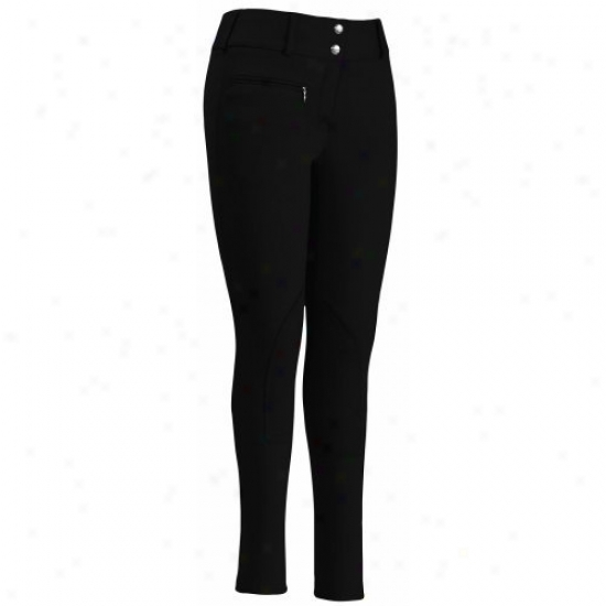 Tuffrider Ladies Cotton-wool Lowrise Remote Waistband Regular Breeches