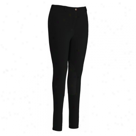 Tuffrider Ladies Cotton Pull On Gripper Breeches