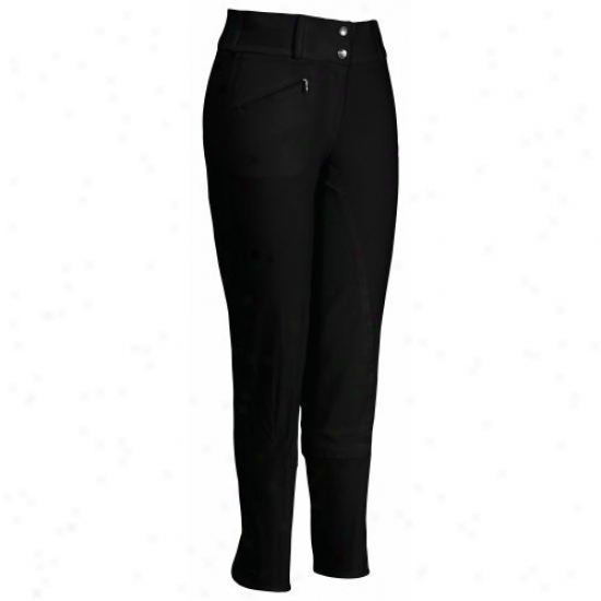 Tuffrider Ladies Ecogreen Bamboo Full Seat Breeches