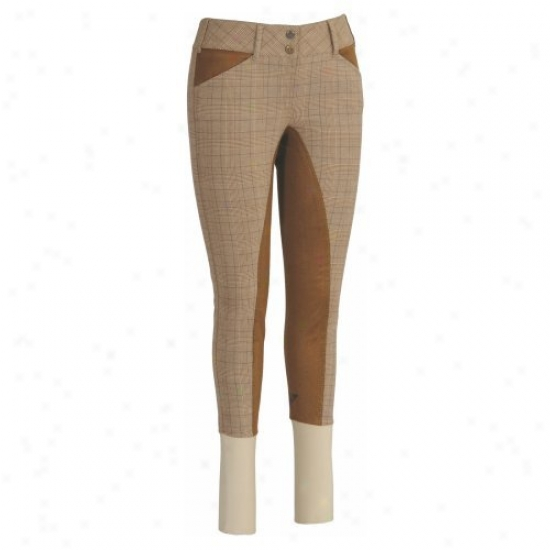 Tuffrider Ladies Highland Bamboo Plaid Full Seat Trousers