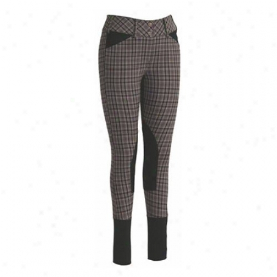 Tuffrider Ladies Highland Bamboo Plaid Wiyh Euroseat Knee Patch Small-clothes