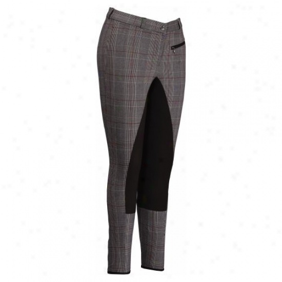 Tuffrider Ladies Plaid Full Seat Breeches