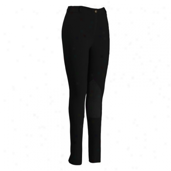 Tuffrider Ladies Pull On Knee Patch Breeches