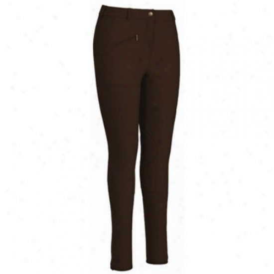 Tuffrider Ladies Ribb Knee Patch Long Breeches