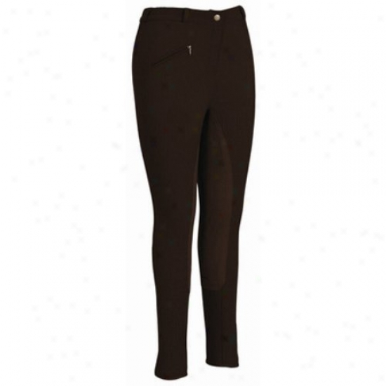 Tuffrider Ladies Ribb Lowrise Full Seat Long Breeches