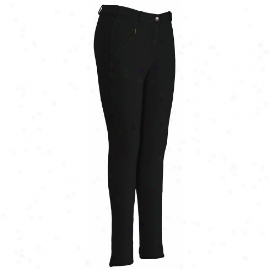Tuffrider Ladies Ribb Lowrise Knee Patch Regular Breeches