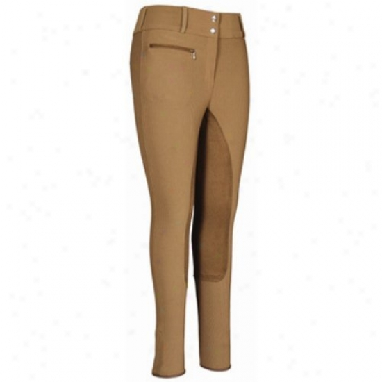 Tuffriser Ladies Ribb Lowrise Wide Waistband Fulk Seat Long Breeches