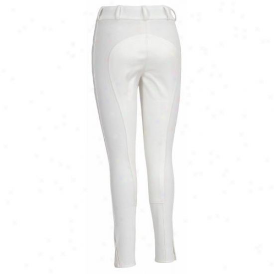 Tuffrider Ladies Ribb Lowrise Wide Waistband Full Seat Regular Breeches