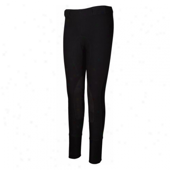 Tuffrider Ladies Super Fit Pull On High Compressi0n Riding Pull On Breeches