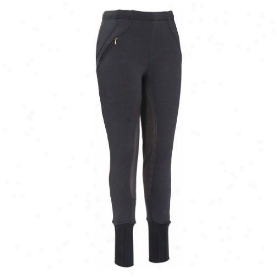 Tuffrider Ladies Unifleece Full Seat Pull On Breeches