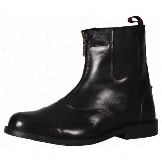 Tuffrider Mens Barouque Front Zip Paddock Boots