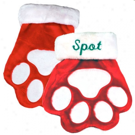 "1-800-petmeds Merry Christmas 12"" Paw Stocking"