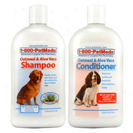 1-800-petmeds Oatmeal & Aloe Shampoo & Conditioner Combo Pack
