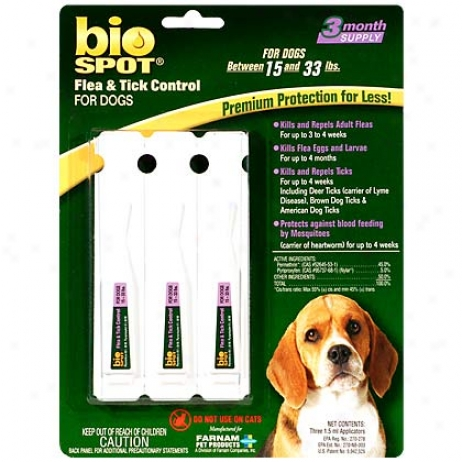 Bio Spot For Dogs 15-33 Lbs Flea & Tick 3 Pk