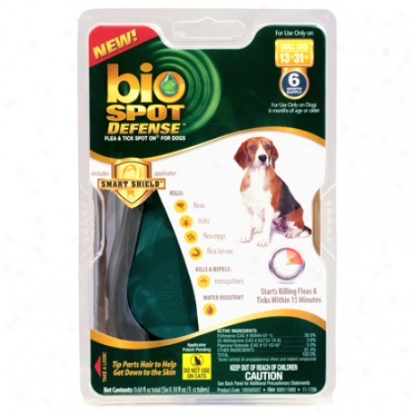 Bio Spot For Dogs 16 To 30 Lbs Flea & Tick Control 6 Pk