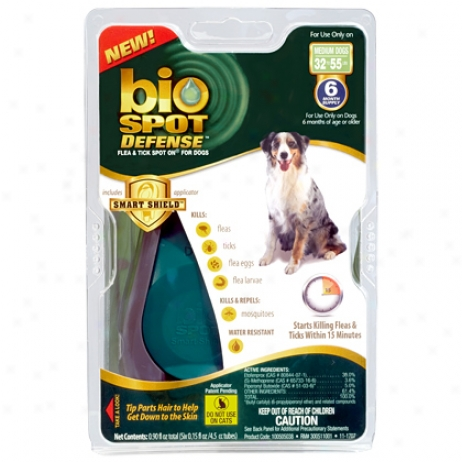 Bio Spot For Dogs 31 To 60 Lbs Flea &am;; Tick Direct 6 Pk