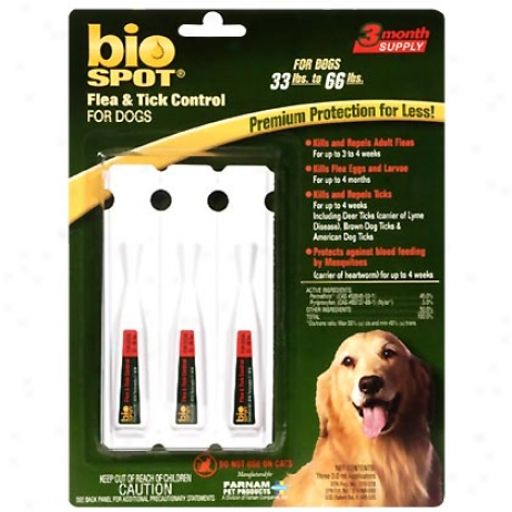 Bio Spot Against Dogs 34 To 66 Lbs Flea & Tick 3 Pk