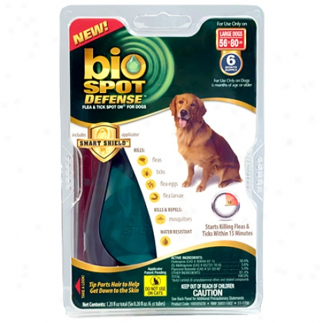 Bio Spot For Dogs Over 60 Lbs Flea & Tick Control 6 Pk