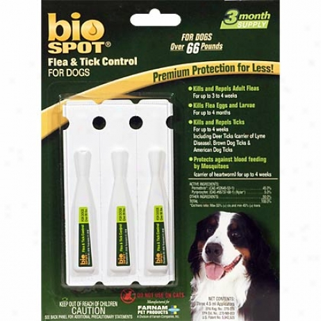 Bio Spot Conducive to Dogs From one to another 66 Lbs Fle & Tick 3 Pk