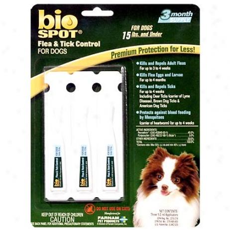 Bio Spot For Dogs Under 15 Lbs Flea & Tick 3 Pk