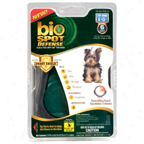 Bio Spot For Dogs Under 15 Lbs Flea & Tick Direct 6 Pk