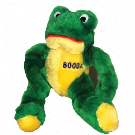 Booda Medium Stretchy Frog Pluhs Dog Silly tale
