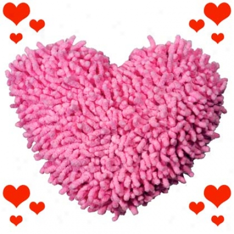 Booda Soft Bite Medium Pink Heart Dog Toy
