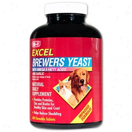 Brewers Yeast With Omega 3 & Garlic 600 Ct Btl