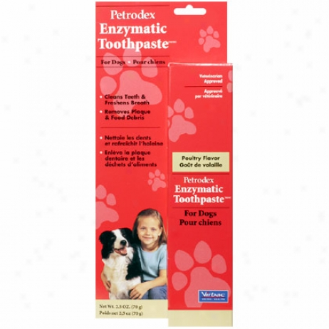 Enzymatic Toothpaste Poultry Flavored 2.5oz Tube
