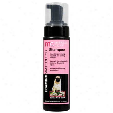 Foaming Wterless Dog Shampoo 7 Oz Bottle